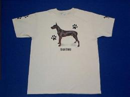 black great dane t shirt