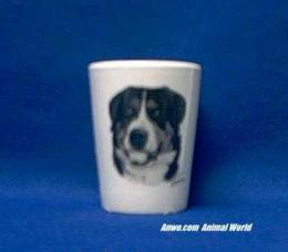 greater swiss mountain dog shot glass