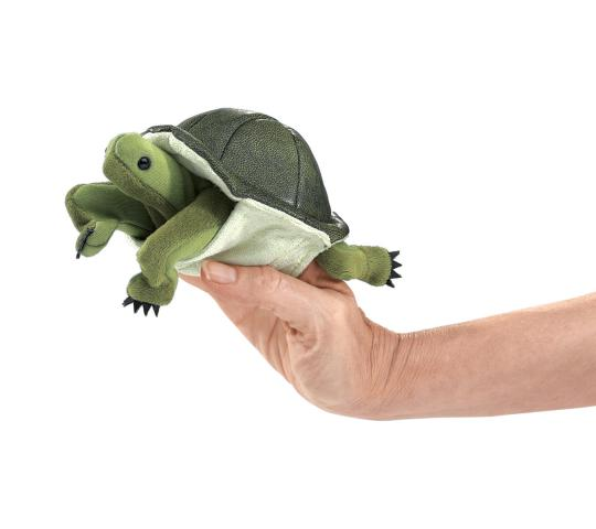 Green Turtle Finger Puppet