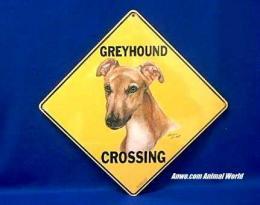 greyhound crossing sign