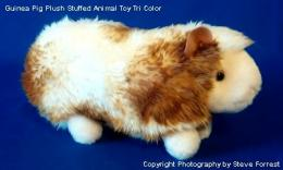 guinea pig plush stuffed animal tri color abner