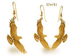 hawk earrings