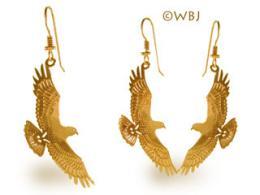 hawk earrings