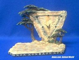 herd elephant african clock figurine