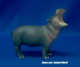 hippo figurine statue small