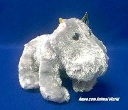 hippo plush stuffed animal zoobie small