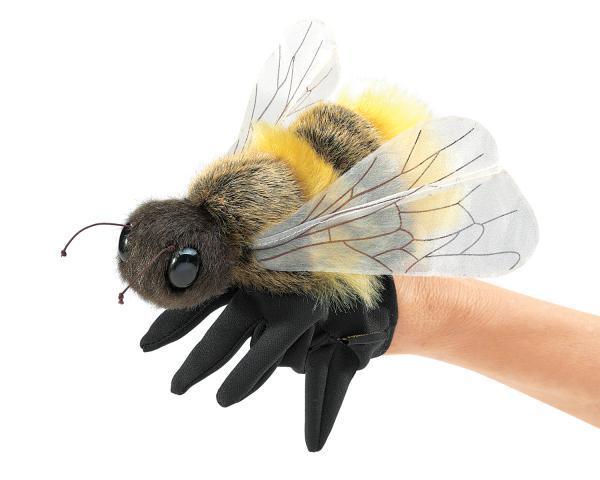 honey bee puppet plush, folkmanis puppet,