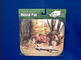 horse mousepad brown