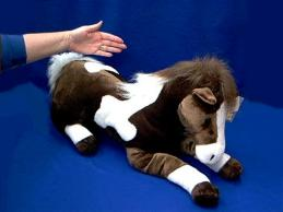 horse stuffed animal plush large paint
