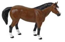 horse toy quarter horse miniature replica