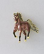 brown horse pin jewelry