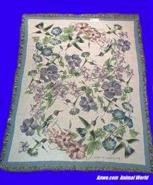 hummingbird blanket throw tapestry usa