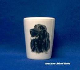 irish setter shot glass