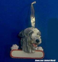 irish wolfhound christmas ornament personalize