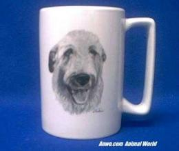 irish wolfhound mug porcelain