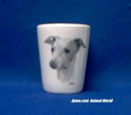 italian greyhound shot glass