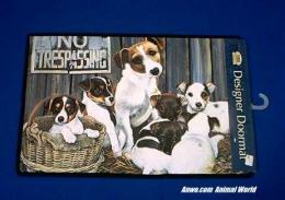 jack russell terrier doormat welcome mat