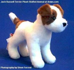 jack russell terrier plush stuffed animal feisty