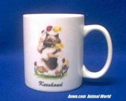 keeshond mug porcelain cartoon McCartney