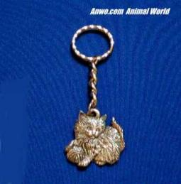 kitten keychain pewter cat