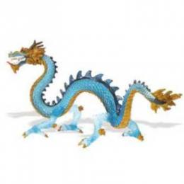 krystal blue dragon toy miniature