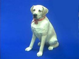 yellow lab figurine large