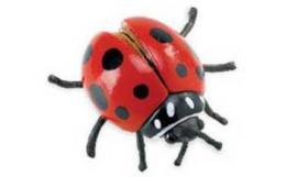 red ladybug toy figurine