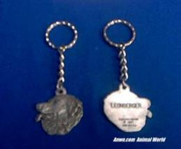 leonberger keychain pewter usa