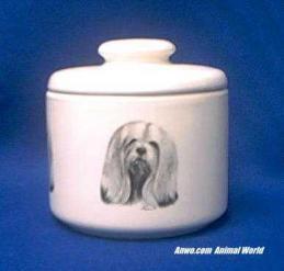 lhasa apso jar porcelain