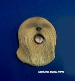 lhasa apso magnet figurine face