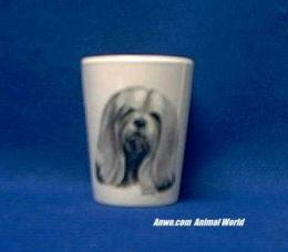 lhasa apso shot glass