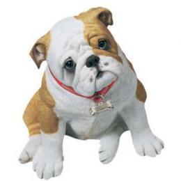 lifesize bulldog puppy figurine statue ls160