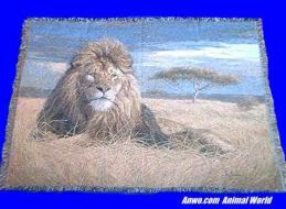lion blanket throw tapestry