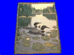 loon throw blanket enchanted