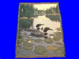 loon throw blanket enchanted