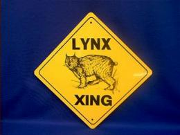 lynx crossing sign