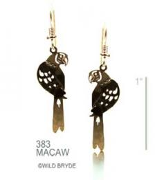 macaw earrings gold french curve