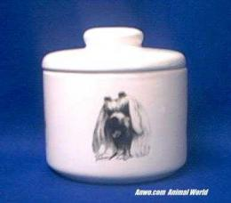 maltese jar porcelain candy