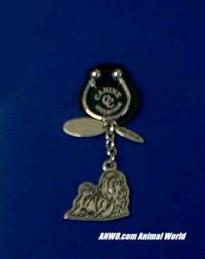 maltese keychain silver