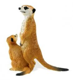 meerkat toy miniature adult baby