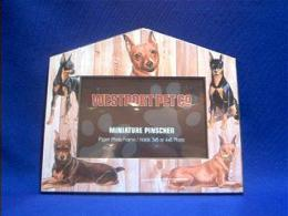 miniature pinscher picture frame