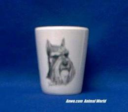 miniature schnauzer shot glass