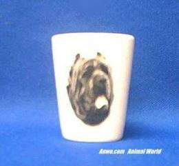 neopolitan mastiff shot glass