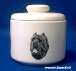 neopolitan mastiff jar porcelain