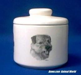 norfolk terrier jar porcelain