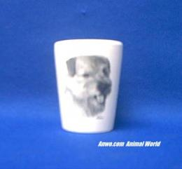 norfolk terrier shot glass