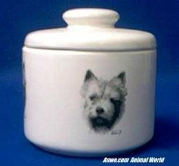 norwich terrier jar porcelain