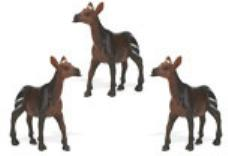 okapi toy mini good luck miniature