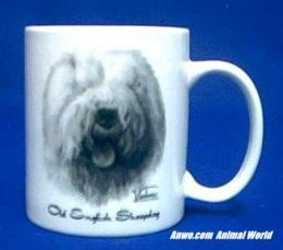 old english sheepdog mug porcelain