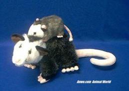 opossum plush stuffed animal mom baby